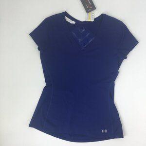 Under Armour Vent HeatGear Blue Fitness Shirt S